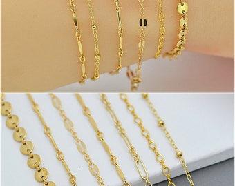 Dainty Chain Bracelet / Layering Bracelet / Delicate Gold Chain Bracelet / Stacking Bracelet