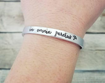 In Omnia Paratus Bracelet - Ready For Anything - Gilmore Girls Gift - Adjustable Cuff