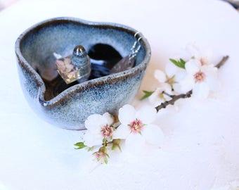 Blue Heartbeat jewelry dish