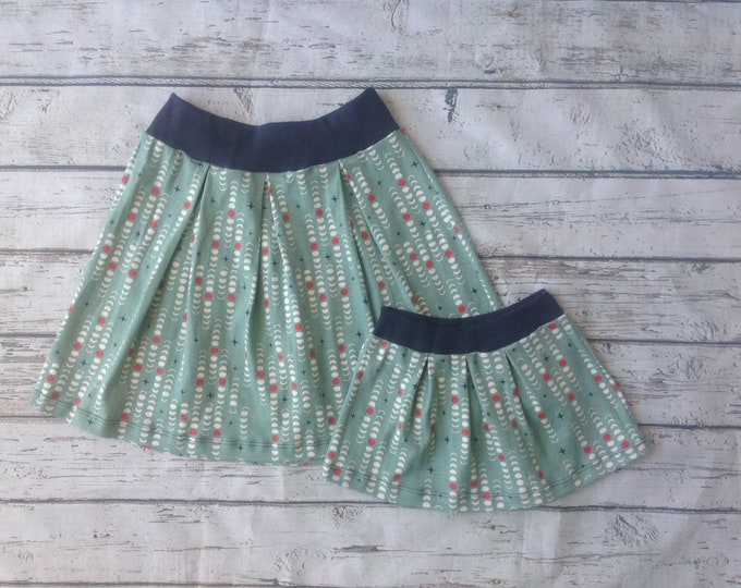 Mommy and Me Moon Phase Pleated Skirt