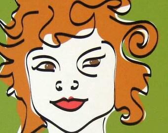 Mod Girl II - Art Portrait Print