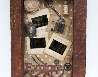 Assemblage Art - Altered Book Art - Recycled Art
