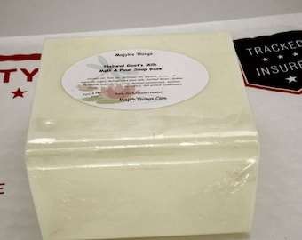 Melt & Pour Goat's Milk Soap Base-As natural as soap can be-1 Pound Blocks Can be sliced
