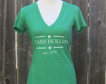 Stars Hollow Women's Vneck Screenprinted Shirt
