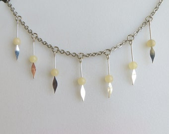 citrine dangle necklace