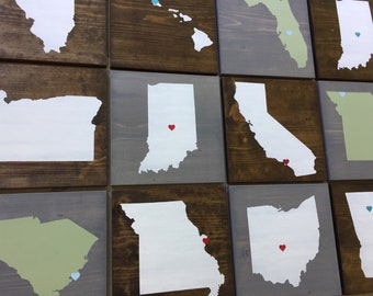 Pick Colors | State Wood Sign | State Signs | State maps | State wall art | Farmhouse Sign | Farmhouse Decor | Moving gift | Home State Sign