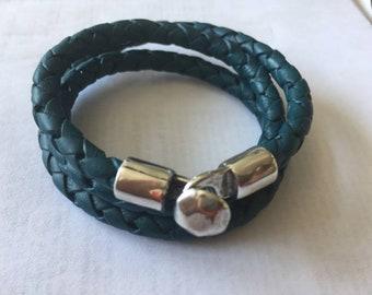 multi wrap leather bracelet, men women wrap bracelet, braided leather bracelet, triple wrap bracelet, birthday gifts women men