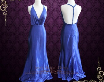 Boho Plunging V Neck Evening Dress with Open T Back   Katy