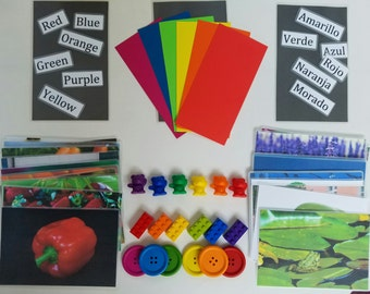 Teaching COLORS-Autism, Child Development Learning Tools- Instructions For Parent/Teacher Included