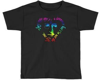 Kids John Lennon Dreamer Support #DACA Short Sleeve T-Shirt