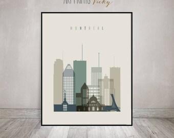 Montreal print, Poster, Wall art, Montreal skyline, Canada, Travel, Gift, City poster, Typography art, Home Decor, ArtPrintsVicky