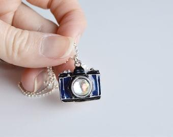 Handmade necklace for photographer, handmade gift for photographer, hobby necklace, handmade gift, original camera charm, silver camera