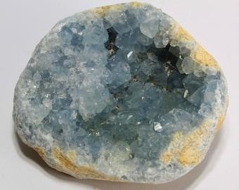 Natural Blue Celestite Crystal Geode