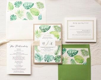 Tropical Pineapple Wedding Invitations Destination Hawaiian