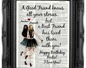 Best Friend BIRTHDAY Gift Best friend Gift Personalized Best Friend Gift for Best Friend Christmas Gift Bestie Gift Bestie Birthday Gift215