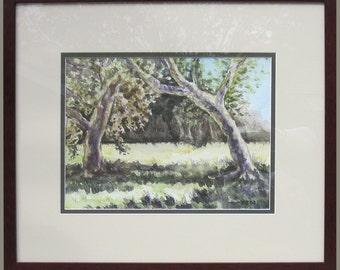 Golden Oak Ranch, Original Art 11.5x8.5