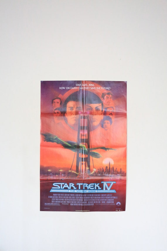 Original Theatrical One Sheet Film Poster - Star Trek 4