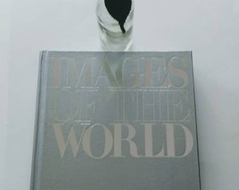 Silver grey coffee table book images of the world fantastic photos in good condition