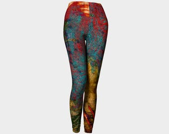 Circles Color pants Yoga leggings yoga pant Rainbow art Unisex design His Hers pant women's legging gifts dancewear exercise women night out