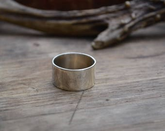 Sterling wide men's ring band, wide sterling ring band, 12 mm sterling men wide ring band, simple sterling silver wide ring band, wide ring
