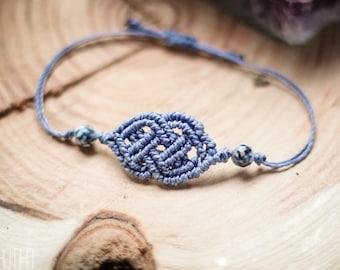 Boho.oho Cetlic Knot Agate Gemstone macrame bracelet
