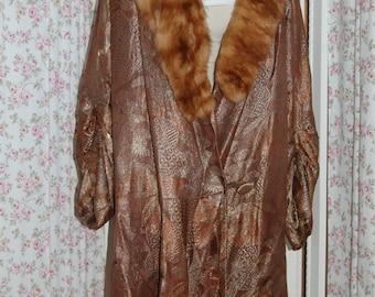 1920's metallic fabric flapper coat. Fantastic condition.