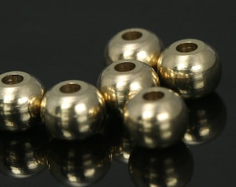 100 pcs 8 mm (hole 12 gauge 2 mm) raw solid brass spacer bead , findings bab2 1464