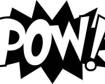 Pow! Vinyl Decal Sticker