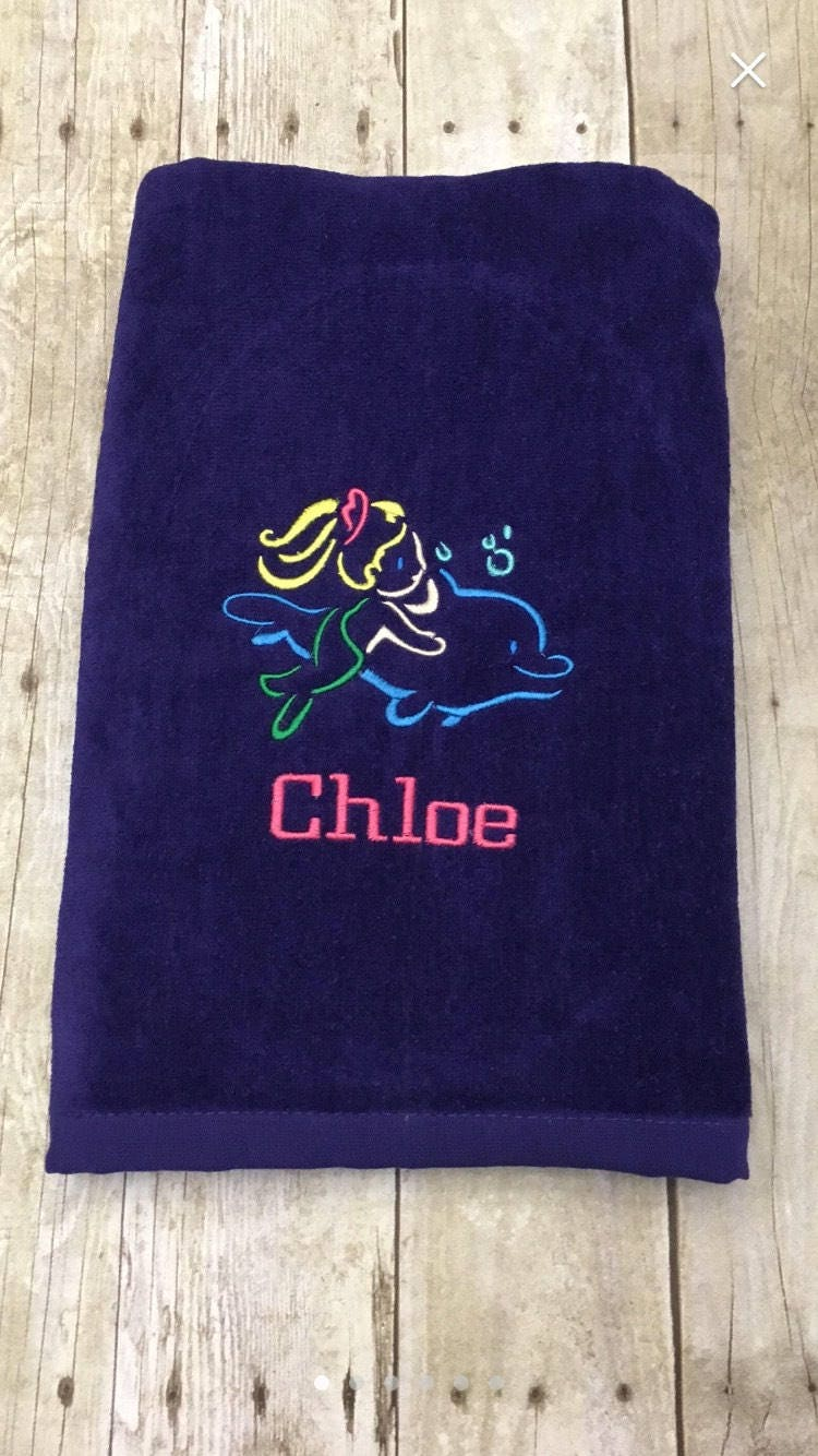mermaid beach towel sea turtle beach towel personalized beach