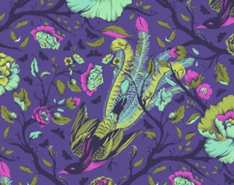 Fat Quarter Tail Feathers in Iris  - Tula Pink's All Stars Fabric for Free Spirit Fabrics