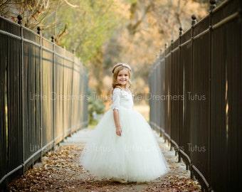 The Sophia Dress in Ivory - Flower Girl Tutu Dress