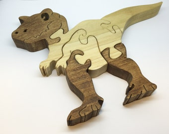 Wooden Puzzle Dinosaur Wood Puzzle Animal Puzzle Zoo Animal Kids Puzzle Wooden Toy Wood Toy Baby Puzzle Baby Shower Gift Nursery Gift