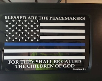 Thin Blue Line Decal | Blue Lives Matter | Police Decal | Law Enforcement Decal | Police Lives Matter | Police Officer Flag Decal