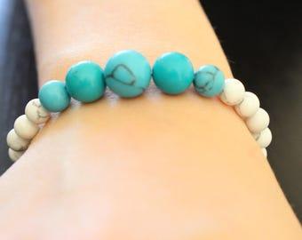 Bracelet gems and skull beads