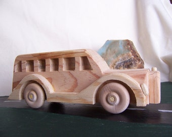 School Bus for Playtime with the Kids, Children, Toddlers, Handcrafted Toy Truck