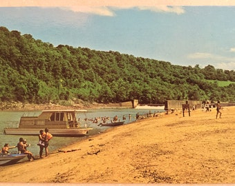 Vintage Ky Postcard Fort Boonesborough State Park Richmond Kentucky Beach Ky