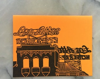 Los Altos Neon Sign, Single Card