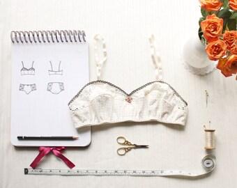 Vintage Style Bra Sewing Pattern Ohhh Lulu 1301 Bambi Soft Bra Multi-size Digital PDF Sewing Pattern