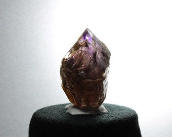 Double Terminated Window Brandberg Quartz Crystal with Amethyst