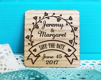 Save the Date magnets-Wooden Engraved Save the Date-Wood Save the Date Magnets-Rustiс Save the Date-Wedding Magnets-Wedding Invitations