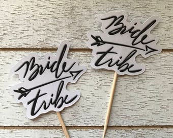 Bride Tribe Cupcake Toppers