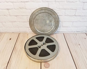 """Vintage 7"""" 8mm Film Reel in Canister Home Movie Football Colts vs Rams"""
