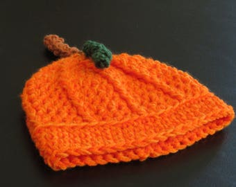 Pumpkin Hat, Newborn Pumpkin Hat, Pumpkin Hat, Newborn Hat, Photo Prop, Photography Prop Hat