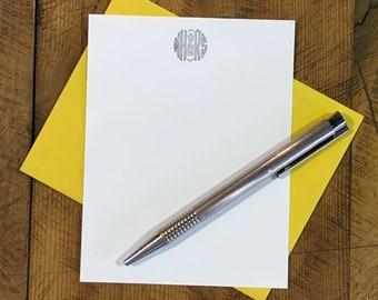 Custom Letterpress Notecards - Virkotype Monogram