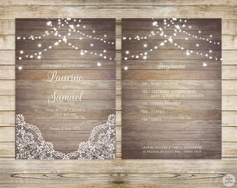 Country collection - invitation - wedding invitation