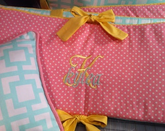 Add Embroidery To Any Item! Monogramming for your Crib Baby Bedding - Design your own Baby Bedding Set