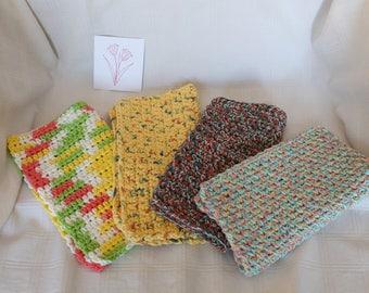 Crochet Dishcloths Washcloths Handmade Shower Housewarming Holiday Gifts