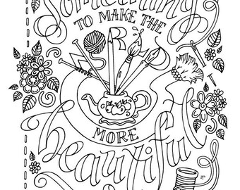 Anne of Green Gables Coloring Page / LM Montgomery / Quotes /
