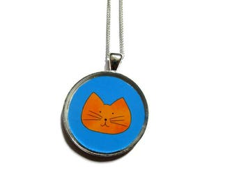 Your Child's Artwork Necklace CUSTOM YOUR CHILDS Art Pendant Your Childrens Drawing Necklace Personalized Mommy Gift for Grandma mom saked