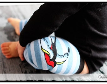 SALE - Sparrow Bird Leg Warmers for Baby, Toddler - Arm + Leg Warmers for Kid, Tween - Great Birthday or Baby Shower Gift for Boys or Girls